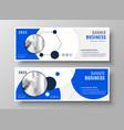 modern professional blue business presentation vector image