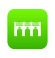 old arch bridge icon green vector image vector image
