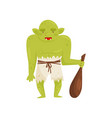 orc monster with a wooden club mythical fairy vector image