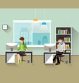 people work in the office vector image vector image