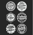 premium quality retro badges collection white and vector image vector image