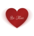 Realistic Valentines Day red Heart paper Card vector image vector image