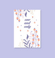 romantic greeting card with the inscription one vector image