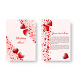 romantic poster with red hearts vector image