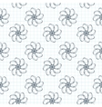 seamless pattern of flowers on a checkered vector image vector image