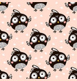 seamless pattern with cartoon birds in vector image vector image