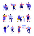 set flat people corporate business characters vector image