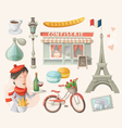 set french items vector image vector image