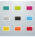 Set of Colored Flat Folders vector image vector image