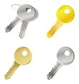 set with keys - safety concept vector image vector image
