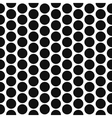 Simple polka dot shape black and white seamless vector image vector image
