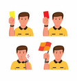 soccer referee gesture collection icon set vector image vector image