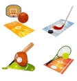 Sport Equipment Concept Set vector image
