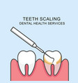 teeth scaling icon - scaling tooth vector image vector image