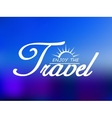 Travel header on blue sea background vector image vector image