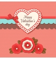 Valentines day typographical retro holiday card vector image vector image