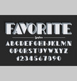 Vanguard decorative bold font design alphabet