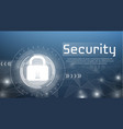 web security technology vector image vector image