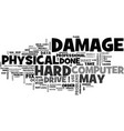what physical damage can do to your data text vector image vector image