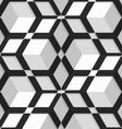 White 3d cubes with hexagonal net on seamless vector image