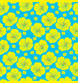 yellow hand drawn yellow flower seamless pattern vector image vector image