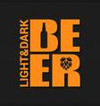 beer logo design background vector image
