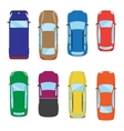 Collection of various isolated cars icons Car top vector image