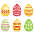 Colorful easter eggs isolated on white background vector image