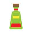 isolated tequila bottle vector image