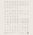 perforated font dotted point type vector image