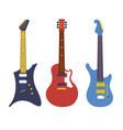 vintage bass electric rock guitars string vector image