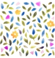 Abstract watercolor flower pattern Modern pattern vector image