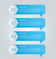 business infographics template blue color vector image