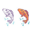 a fish with water drops retro vector image