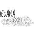 albino iguana text word cloud concept vector image vector image