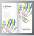 annual business report template vector image