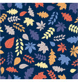 autumn background with color leaves seamless vector image vector image