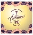 Autumn season time vector image vector image