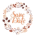 autumn wedding floral frame collection sign vector image vector image
