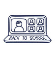back to school online education concept with vector image