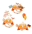 Banners for Oktoberfest celebration Beer and vector image