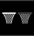 basketball basket streetball net basket icon set vector image