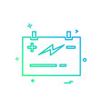 battery power jumper icon design vector image