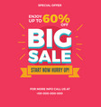 big sale flyer for social media banners poster vector image vector image