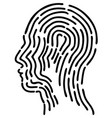 black head fingerprint vector image