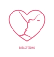 Breastfeeding sign vector image
