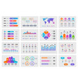 business presentation charts financial report vector image