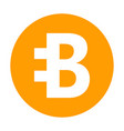 bytecoin icon for internet money crypto currency vector image