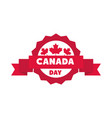 canada day maple leaves celebration label vector image
