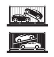 car shipping container vector image vector image